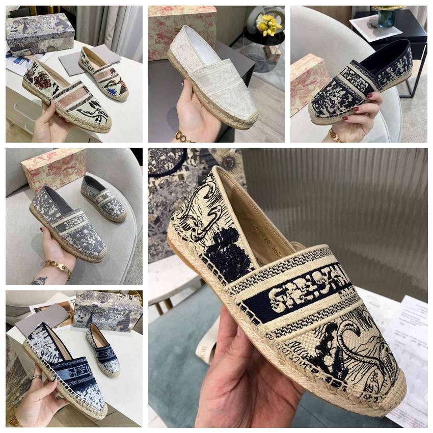 2021 كلاسيكي صياد الأحذية مصمم 100٪ الجلود قماش الجلود منصة فاخرة المرأة أحذية مكتب حقيقي مربع الأصلي