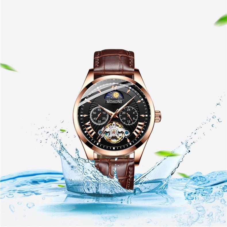 Armbanduhren NOHDNE Relogio Masculino Marke High-End-Männer mechanische Uhr Wasserdichte Leuchtende Mondphase Multifunktional