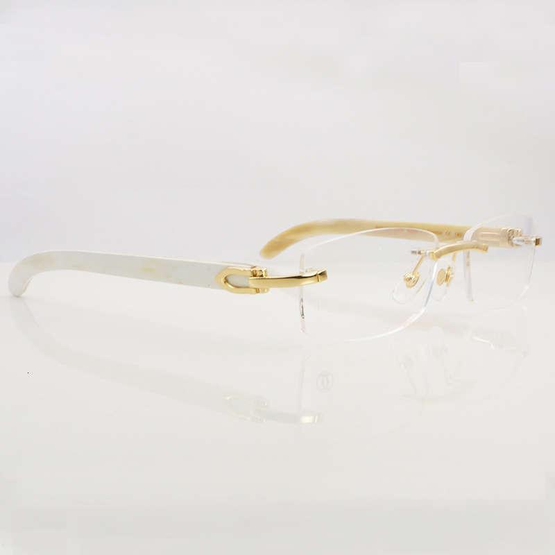 21S стеклянные прозрачные рамки для мужчин Женские аксессуары Ienbel Натуральный буйвол рожка Carter Gold прозрачный глайс