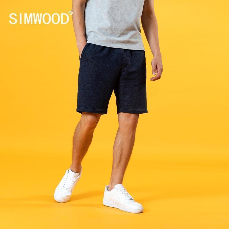 Simwood 2021 Été Nouveau Shorts de cordon de serrage Hommes Jogger Sweatpants Plus Taille Taille Casual Longueur du genou Pantalons SJ200942 210305