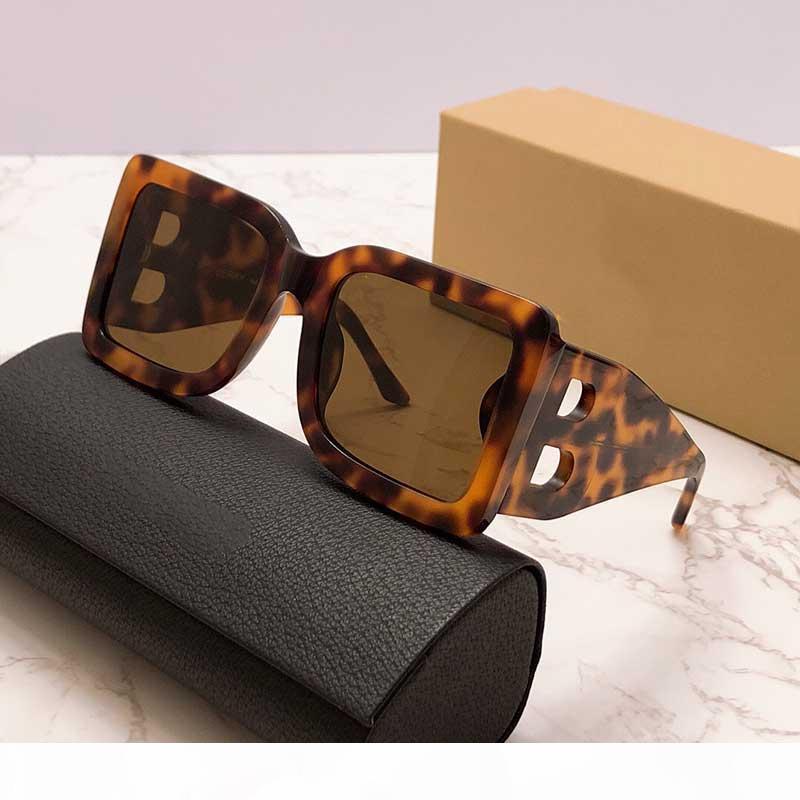 Lusso- 2020 Nuova stagione Designer Designer Designer Occhiali da sole Piatti quadrati Big Double B Lettera Gambe Semplice moda stile UV400 Occhiali E4312
