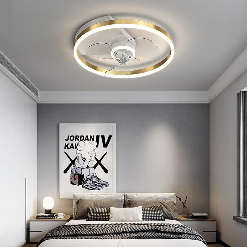 Ceiling Fans Modern Simple Lamp Extremely Thin Fan Bedroom Kitchen Dining Room Master Living LED