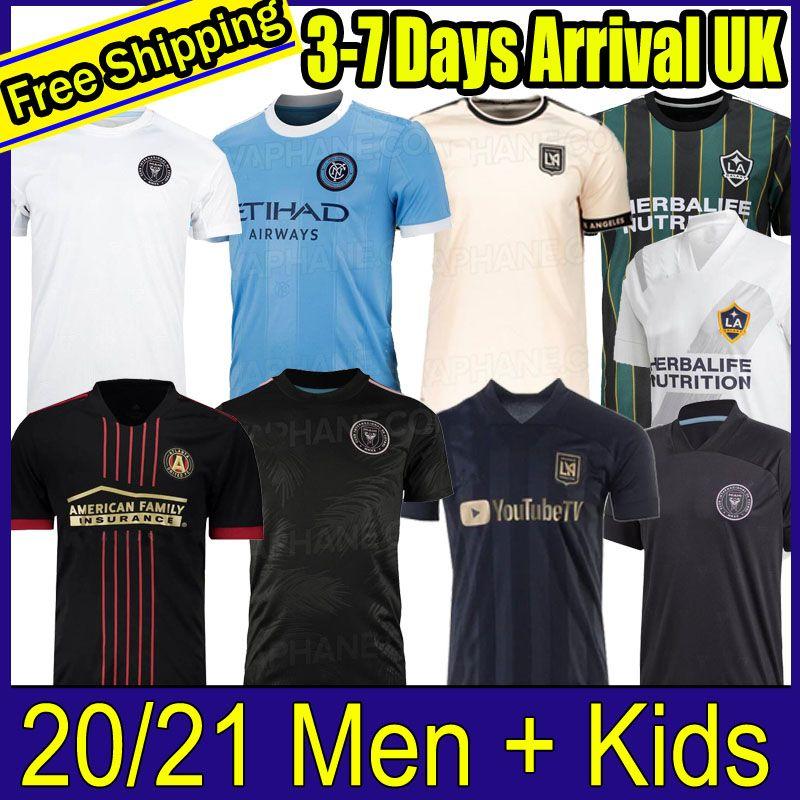 MLS 2021 2022 Los Angeles La Galaxy Inter Miami CF Fussball Jerseys 21 22 Higuain Atlanta United Lafc Beckham Football Shirts Fans Version