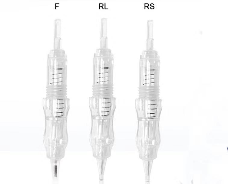 As agulhas descartáveis do cartucho do tatuagem do parafuso de 100 pcs para a agulha da sobrancelha do kit da máquina da tatuagem com rl / rs / f