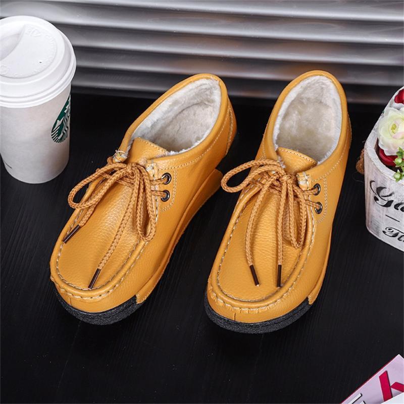 اللباس أحذية الشتاء السيدات زائد المخملية الأحذية الجلدية عارضة، منصة الأزياء اللياقة البدنية هزاز أحذية رقيقة الهيب