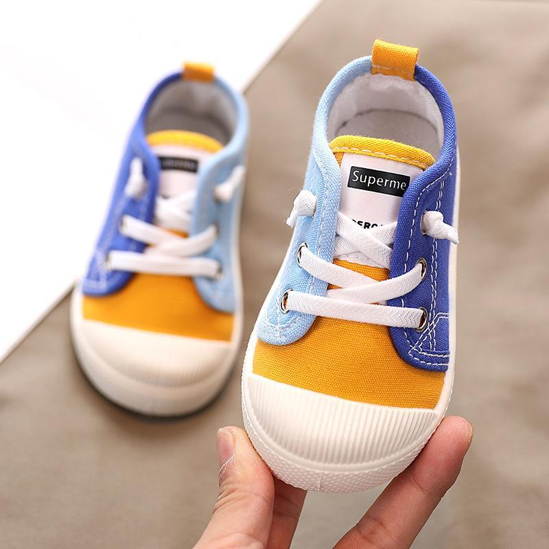 First Walkers Baby Toddler Shoes Infant Boy Girl Spring Summer Outdoor Anti-slip Canvas Rubber Sole Sports