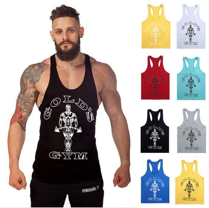 DIRUIJIE 1400# 12Colour M-XXL Cotton Men's Golds Gym Muscle Joe Stringer Tank Top Mens Vest Bodybuilding Crossfit Singlet