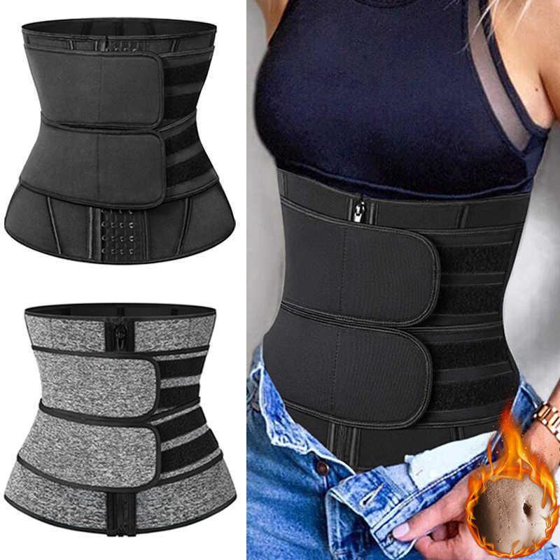 Neopren-Taille Trainer Body Shaper Frauen Abnehmen Mantel Bauch Reduzieren Sauna Shaper Fitness Sweill Trimmer Gürtel Gewichtsverlust 210603
