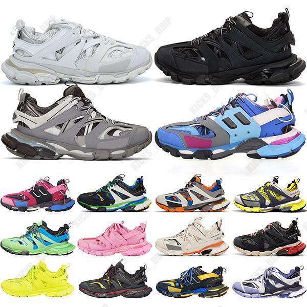 جديد أعلى جودة باريس الثلاثي s المسار 3.0 غوما رجل إمرأة chaussures أحذية رياضية الثلاثي الأبيض الأحمر عارضة منصة أحذية رياضية مدرب الرياضة