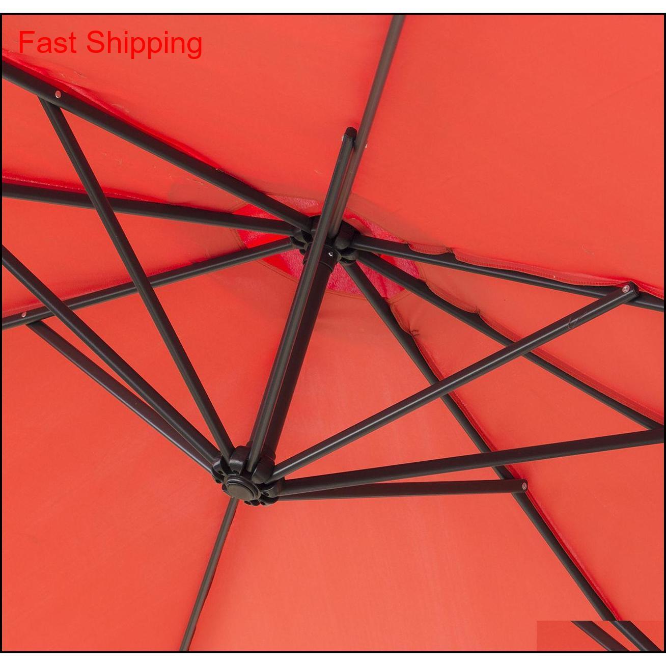 10 'pendaison parapluie patio Terra Cotta résistant aux UV Sha Qousow Hairclippershop