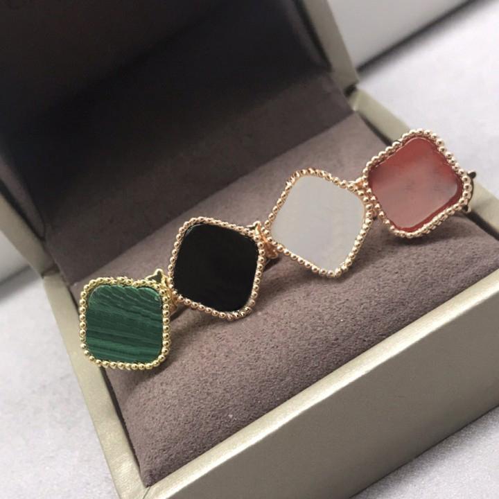 Pendientes para mujer Fashion Stud Earings Clover Elegant Elegante para mujer Classic 13 Color de alta calidad con caja