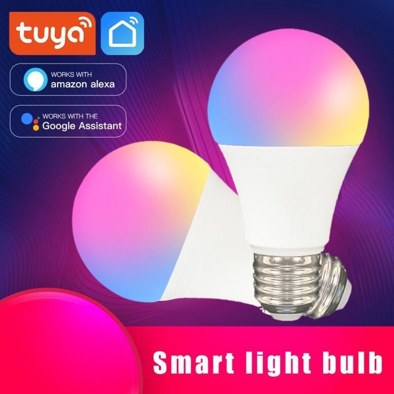 Tuya Zigbee 9W WiFi Smart Light Bulb E27 LED RGB Lamp Wireless Voice Control for Alexa Google Dimmable Timer Function