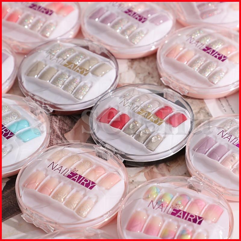 30 pçs / caixa colorida reutilizável capa completa falsa artificial dicas de unhas destacáveis Art extensão falsa dicas com gel uv revestido 39 estilos