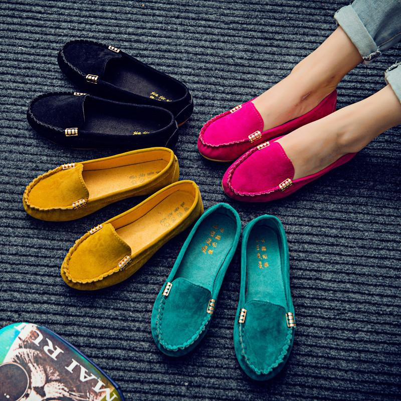 Süße felsige Mokassins in Ballettwohnungen bequem Damenschuh Zapatos Mujer plus Größe 35-43 Frauenschuhe FJ14