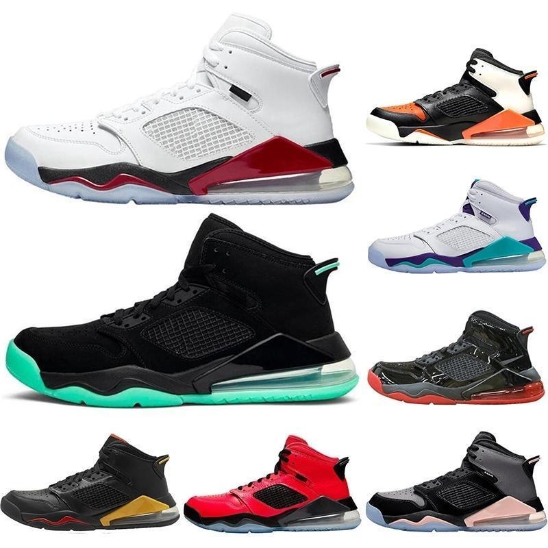 Con calzini gratuiti Nuovi uomo scarpe da basket nero metallico Bred DMP Uva Fire Rosso Glow Glow Athletic Men Forners Stuss Sneakers Dimensioni 40-47