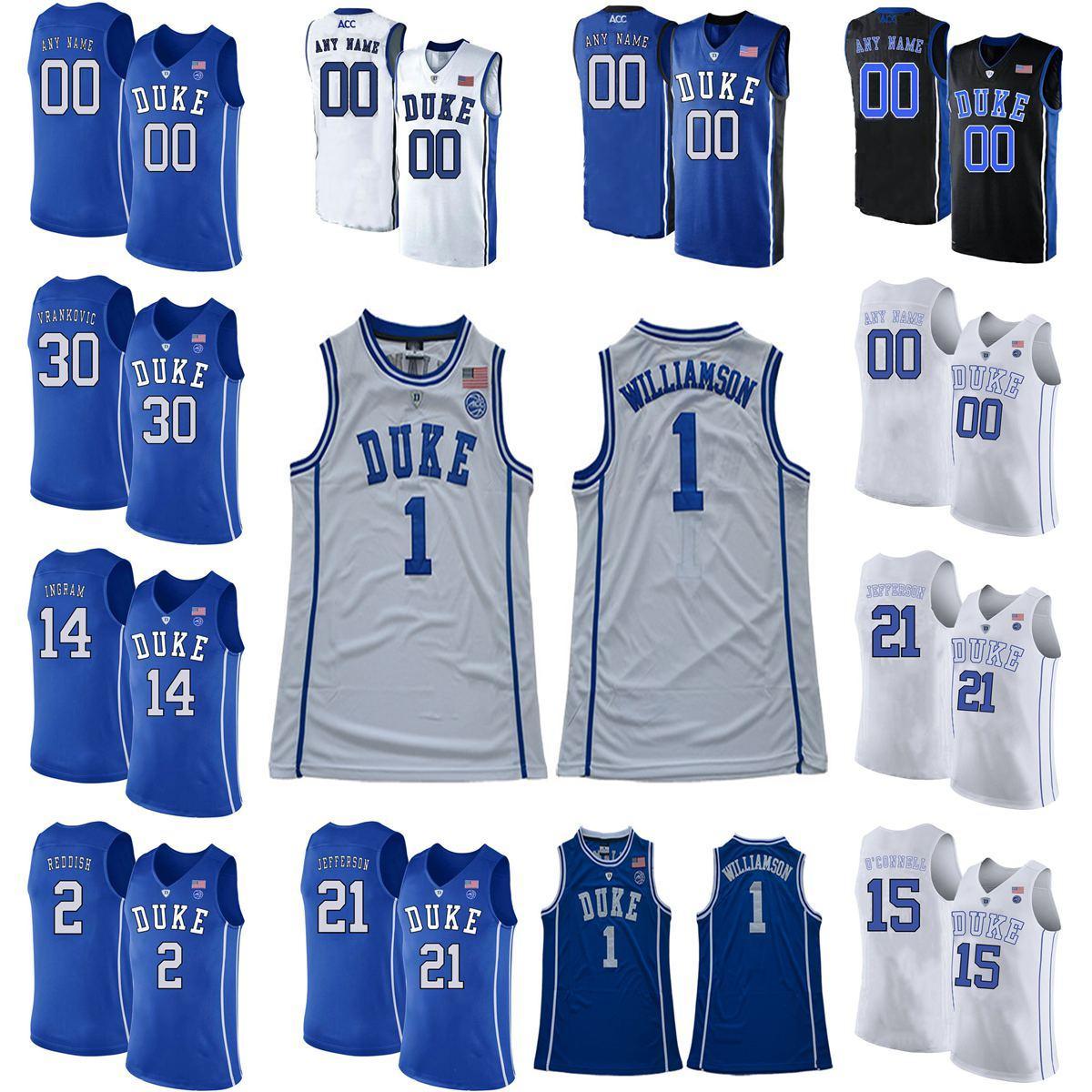 Гербое синие дьяволы колледжа баскетбол майки по баскетболу Grant 33 Hill Jersey Kyrie 1 Ирвинг Jahlil 15 Okafor Brennan Besser Austin 0 реки настроен