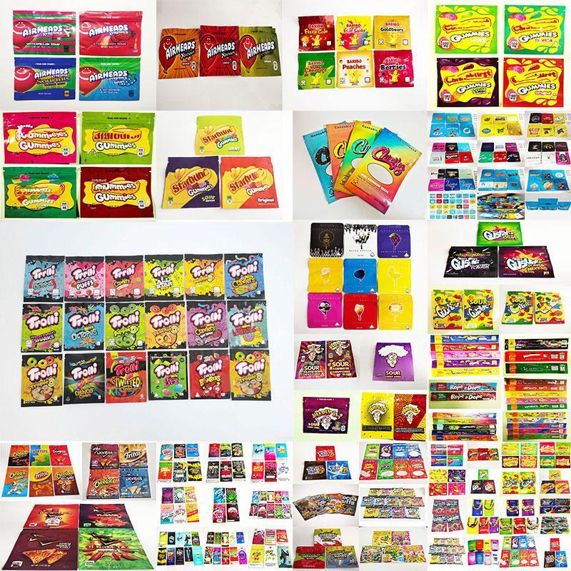 Borsa commestibile Gummies Borsa Weedtarts Starburst Edibles Packaging Warheads ERRLLI TROLLI TRRLLI AITERALI AITERALI PER BAGNI MYLAR