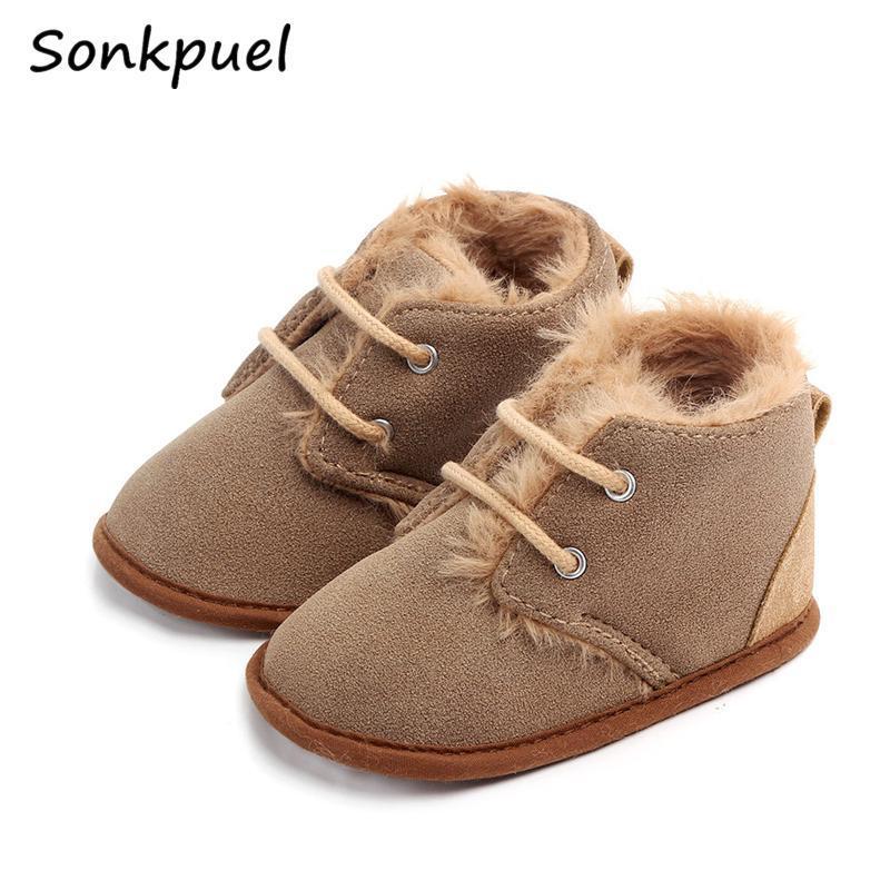 First Walkers 2021 Baby Girls Boys Winter Keep Warm Shoes Sneakers Kids Crib Infant Toddler Footwear Boots Borns Prewalkers