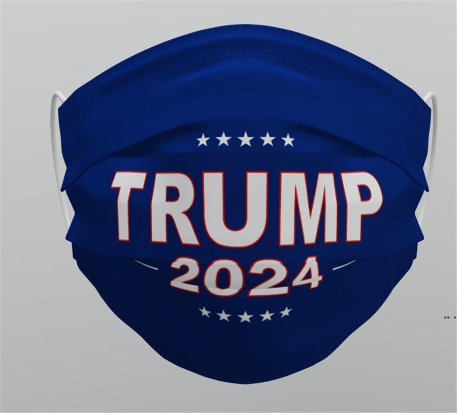Trump 2024 Kullanımlık Yıkanabilir Yüz Maskesi Dokunmamış Kumaş Toz Geçirmez Haze-Proof Nefes Maskeleri Toptan DHF5300