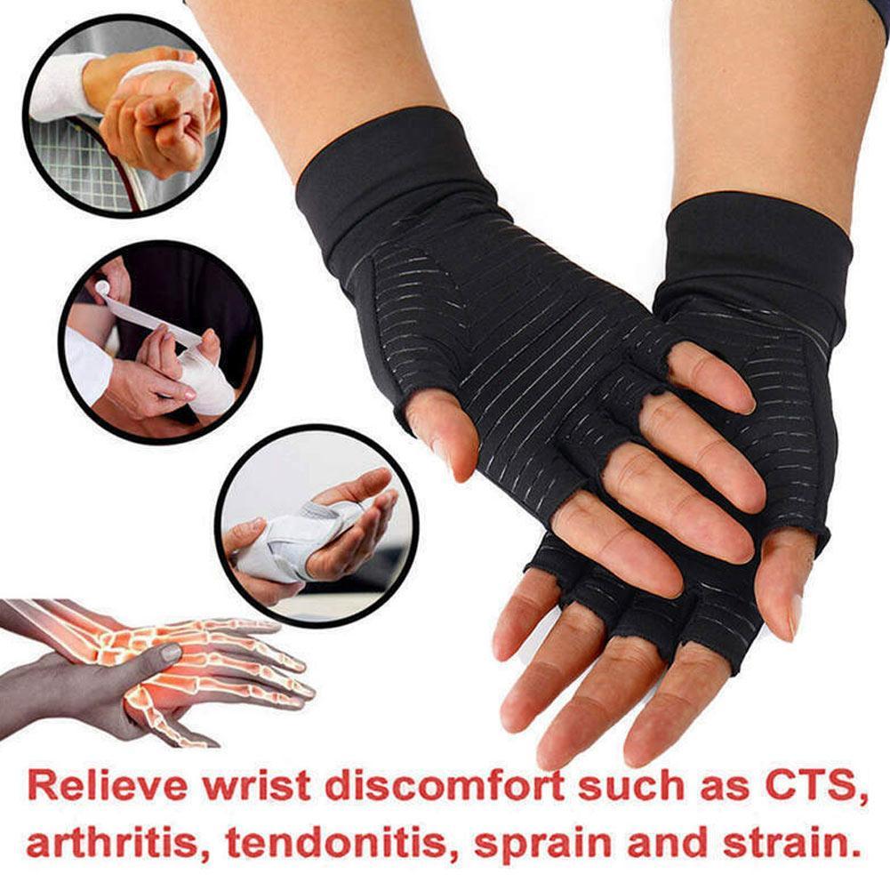 Guantes de compresión de fibra de cobre Atención de salud Aliviar el dolor de semi de los pies Guante para exteriores al aire libre M2