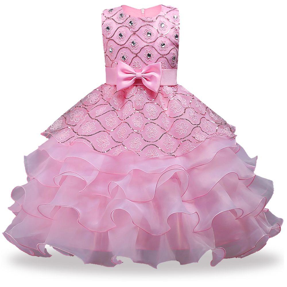 Baby Girls Golden Gold Wire Вышитые Платье Принцессы Детские Сейфинги ТУТУ Платья для Малышей Девушки Цветочное Платье Платье Девушки Одежда