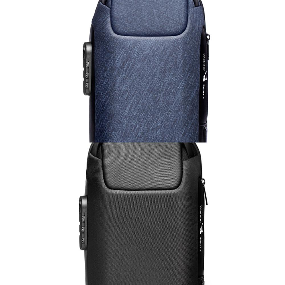 2021 New Men's Multifunctional Crossbody Bag USB Anti-theft Shoulder Messenger Bag Outdoor Waterproof Short Trip Chest Bag Pack C0224