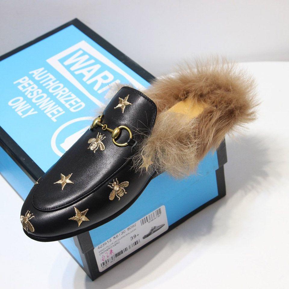Mode Maultiere Luxus Designer Schuhe Weiche Echte Leder Sohle Toskanische Wolle Top Qualität Frauen Schuhe Größe 35-40 Modell DO01