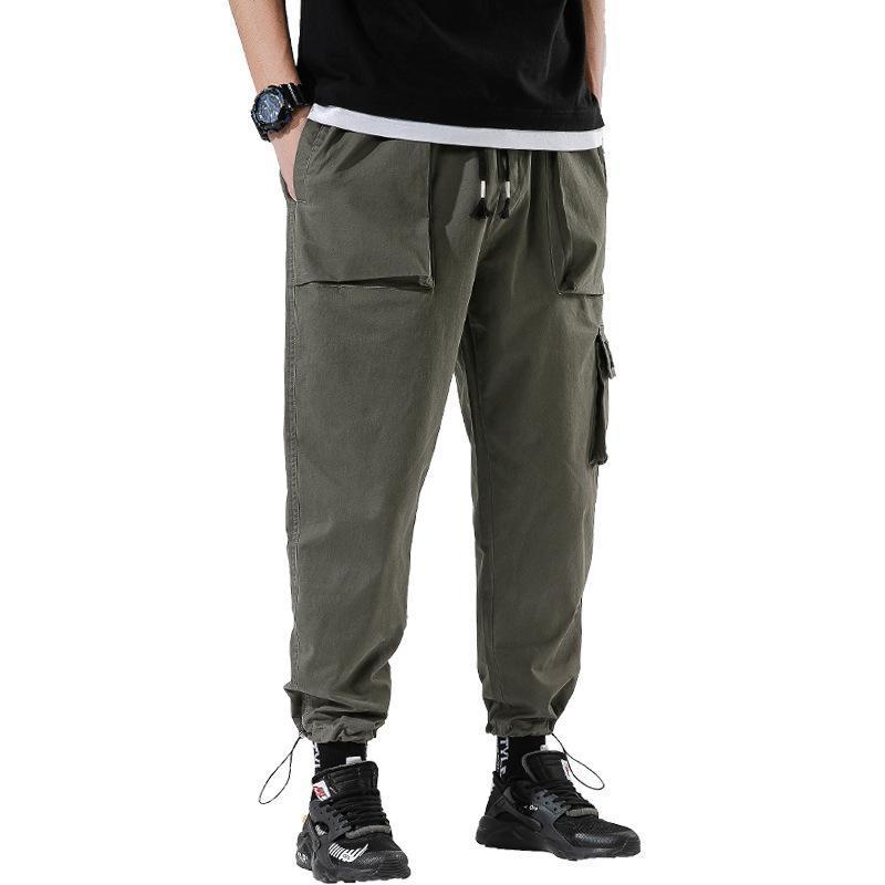 남자 바지 Pantalones Hombre 고품질 패션 캐주얼 힙합 바지 플러스 사이즈 남성 스웨트 팬츠