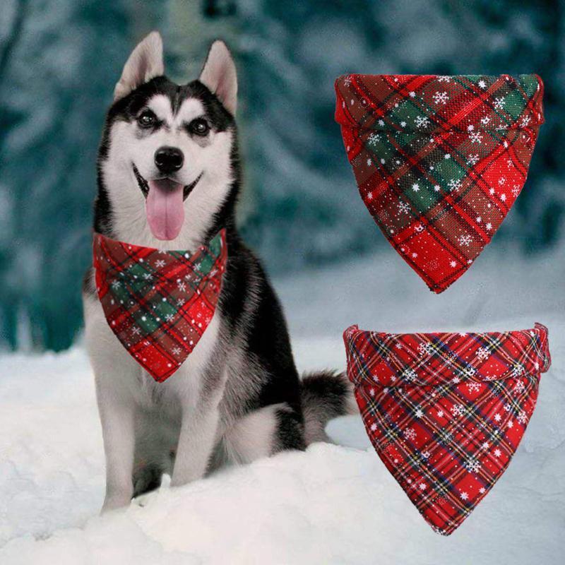 Chien Vêtements Bandana Foulard Collier chat Accessoire Pet Chiot Plaid Chihuahua Triangulaire Bandage Accessoires