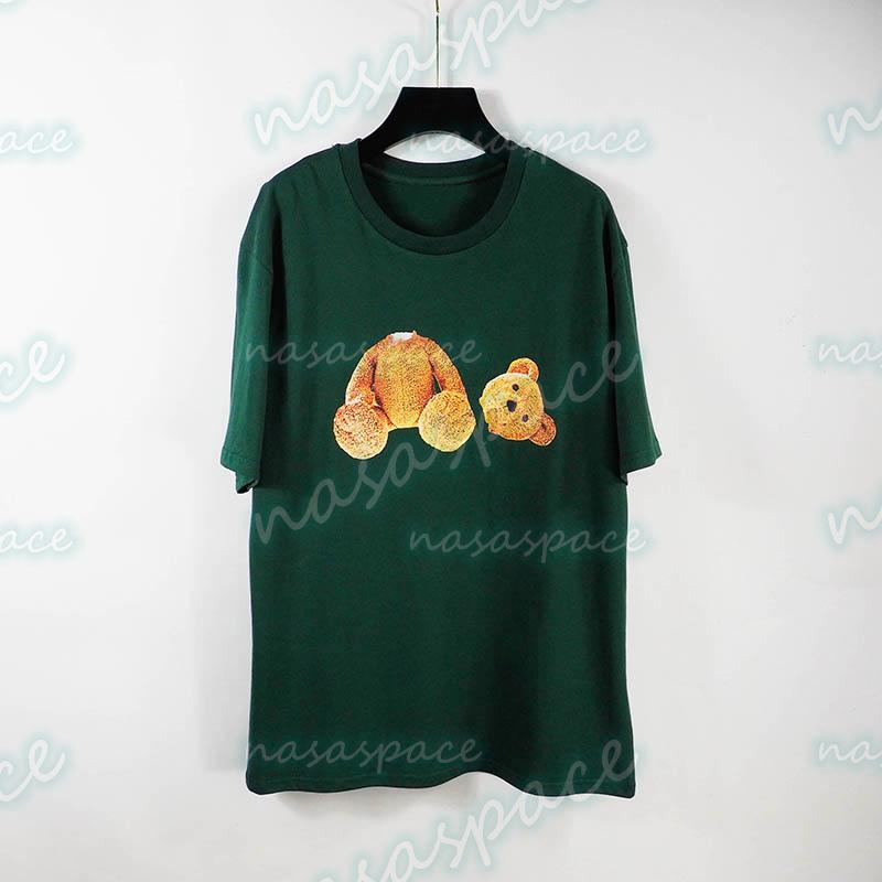 Yaz Erkek T Shirt Tees Moda Tasarımcısı Yüksek Kaliteli Ayı Baskı Kısa Kollu 3 Renkler Gençler Hip Hop Streetwear Boyut S-XL