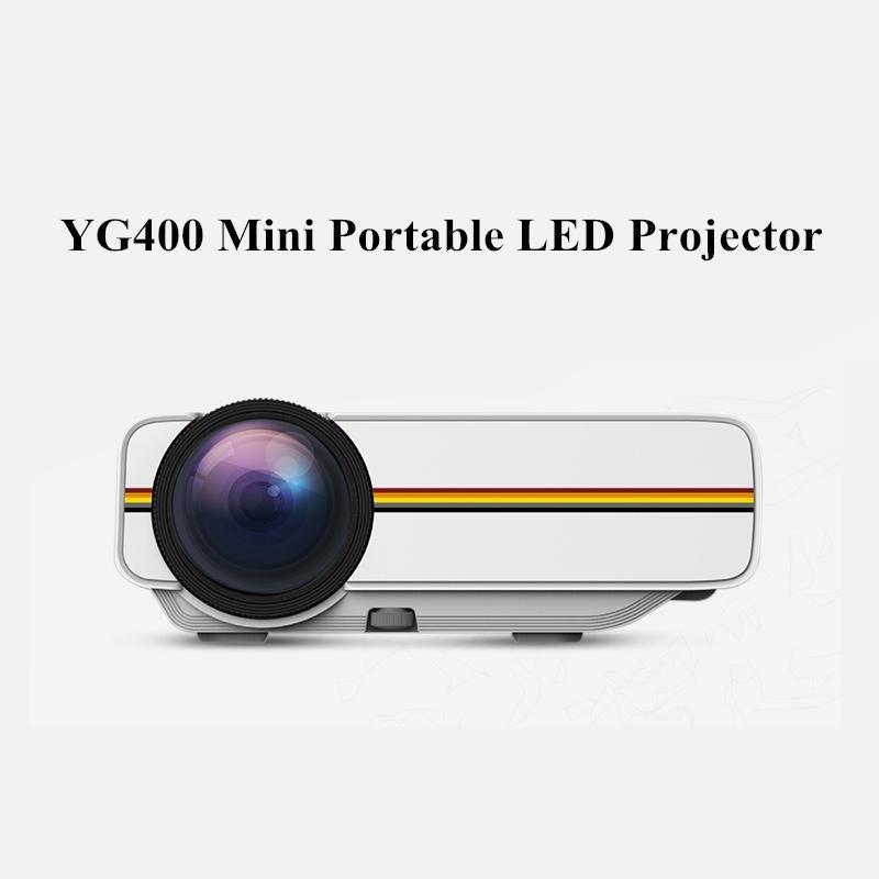 YG400 Mini Taşınabilir LED Projektör 1000Lümen 800 * 480 DPI LCD Homeater Projektör Destek 1080 P Proyector HDM VGA USB Projektör Yeni