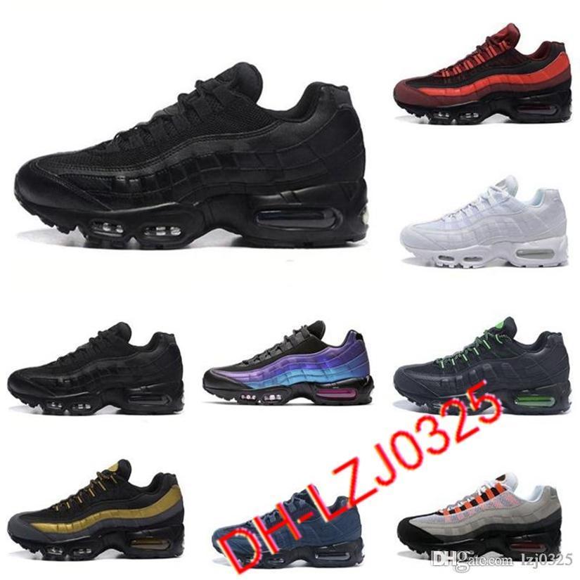 Deportes 95s zapatos triple negro neón láser fucsia rojo órbita criado aqua para hombre zapatillas deportivas zapatillas deportivas Todos los chaussures blancos Tamaño 40-45 DHX-H41