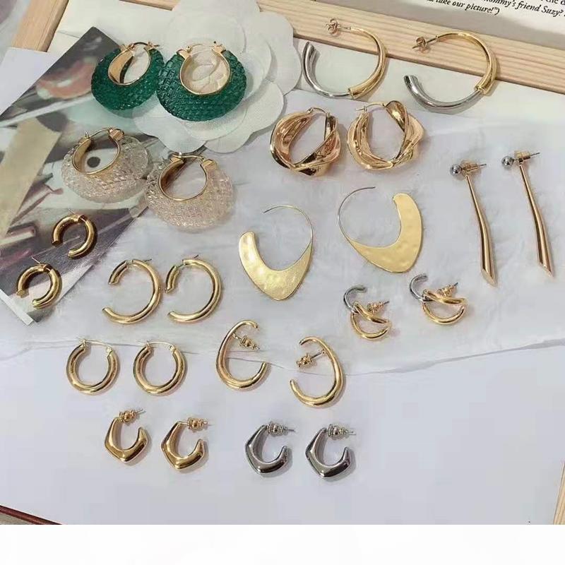Popüler tasarım wome küpe altın kaplama popüler moda küpe kızlar için kadınlar için parti düğün güzel hediye