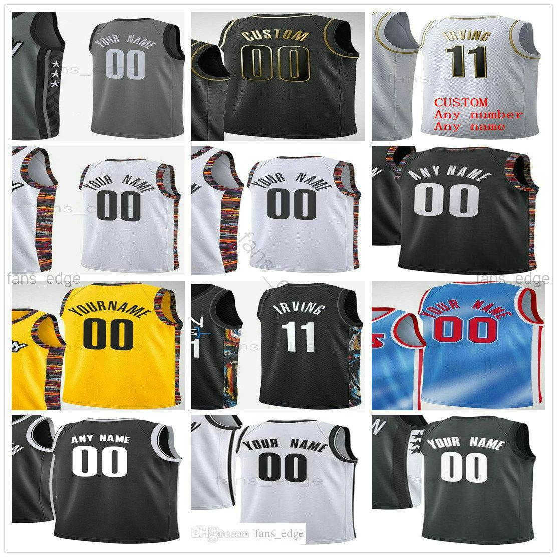 مخصص مطبوعة 11 كيري 7 كيفن ايرفينغ دورانت 13 هاردن جو 12 هاريس بروكلين بليك 2 جريفين شبكات الرجل النساء الاطفال كرة السلة الفانيلة