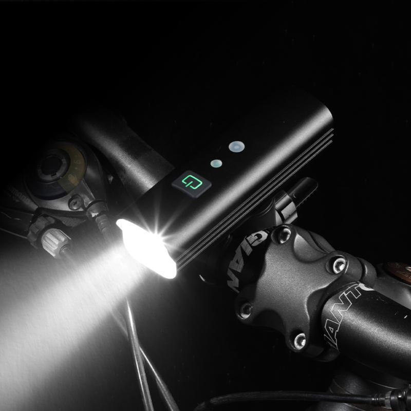 Bike Lights 1000 Lumens LED Bicycle Front Headlight Smart USB Rechargeable Light Cycling Bikes Accessories For MTB Road