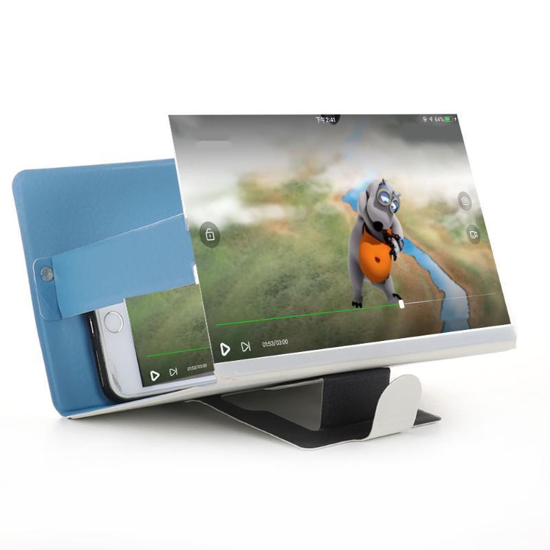 Téléphone cellulaire Supports de supports 1PC Loupe d'écran 3D Loupe stéréoscopique Bureau amplificateur de bureau pliable support de support mobile Tablet 19 * 12cm