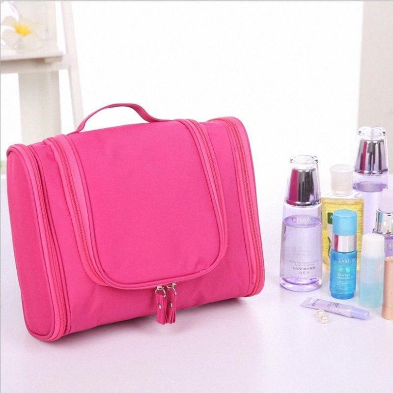 Kosmetische Hälfte Reisen im Freien Handgehäuse Spülbeutel Oxford Tuch Wasserdichte Make-up-Tasche Korean großer Kapazität Paket Omadnn 282h #