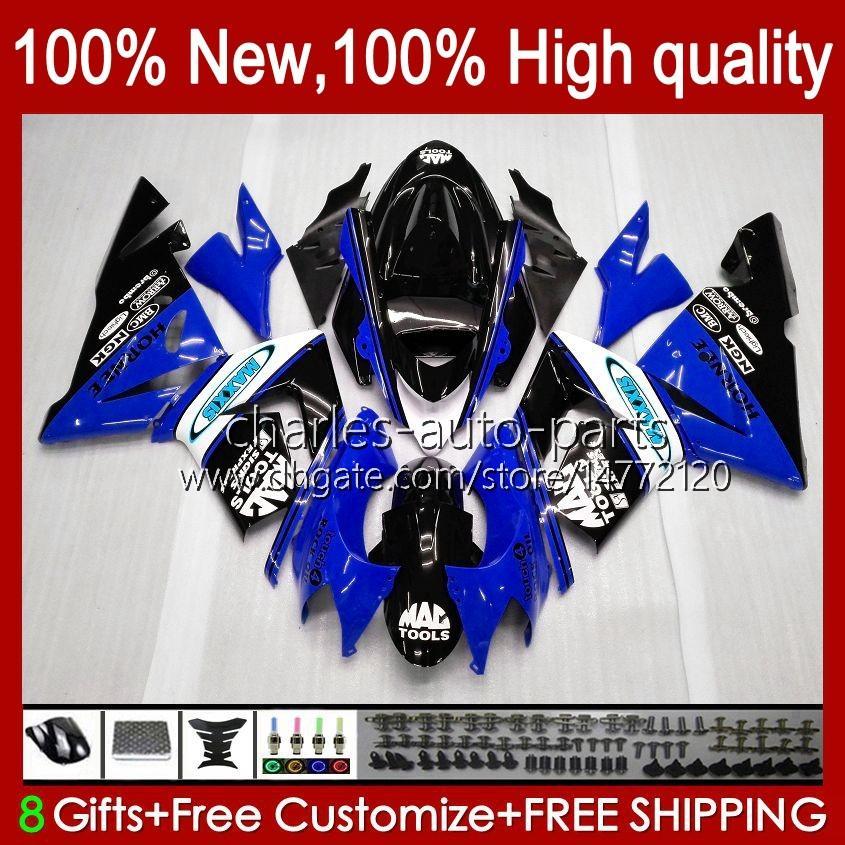 Body Kit OEM Kawasaki Ninja ZX1000C ZX 10 R 1000 CC ZX1000 04-05 Bodywork 9no.134 zx 10r 1000cc zx10r 04 05 zx-10r zx1000cc 2004 2005 오토바이 페어링 블랙 블루