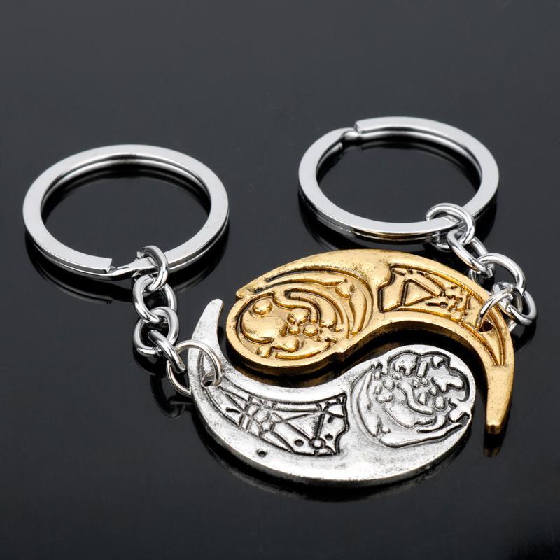 Schlüsselanhänger MQchun Rose und Paige Tico Keychain Crescent Anhänger Mond Schlüsselring Schlüsselketten Ringe -50
