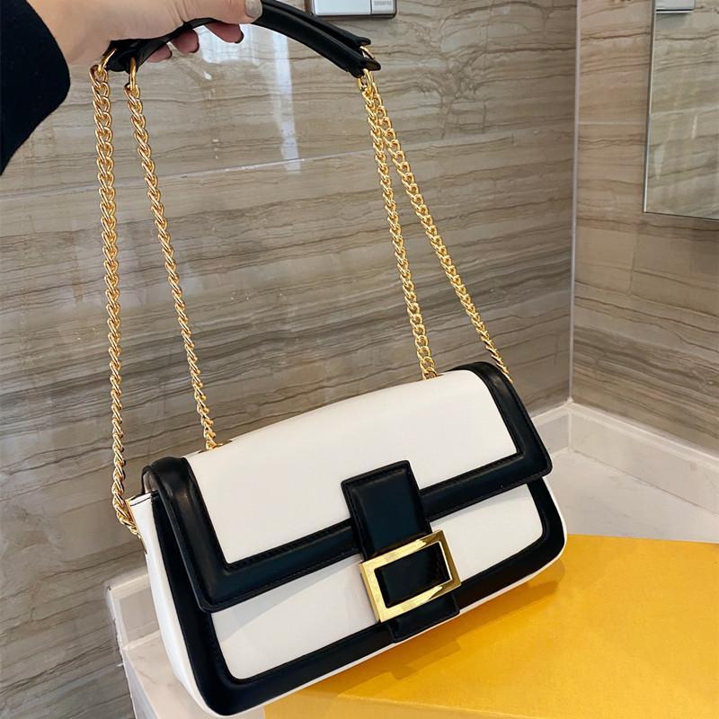 2021 Mode One-Bander Messenger Sac Mesdames Design de luxe Big-Nom Sacs à main composites de haute qualité Multicolore en cuir PU pour femmes en option
