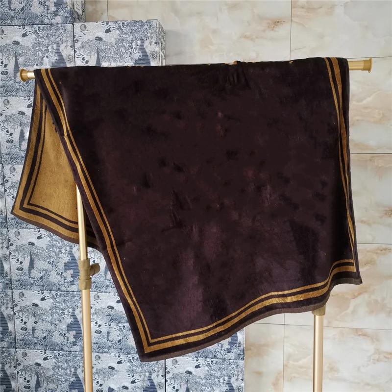 Toallas marrón de la raya de las toallas de lujo de la letra del diseñador de lujo de las toallas de flores antiguas de la ducha Wrap de la toalla de la ducha para hombres y mujeres