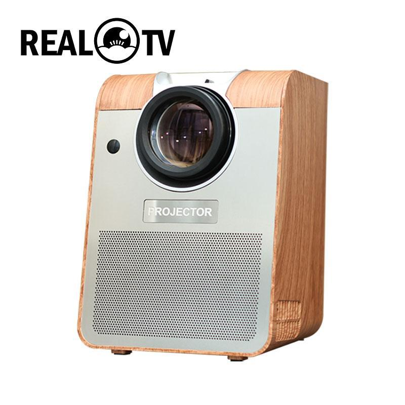 REAL TV BH908 Full HD Led Projector 6500 Lumens Bluetooth Android -compatible USB 1080p Portable Cinema Proyector Beamer