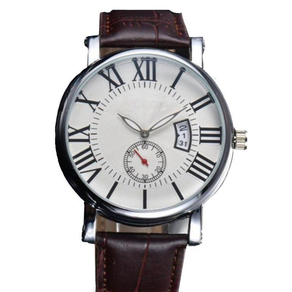 Relojes mecánicos Cinturón de ocio para hombre Calendario Wriswatches