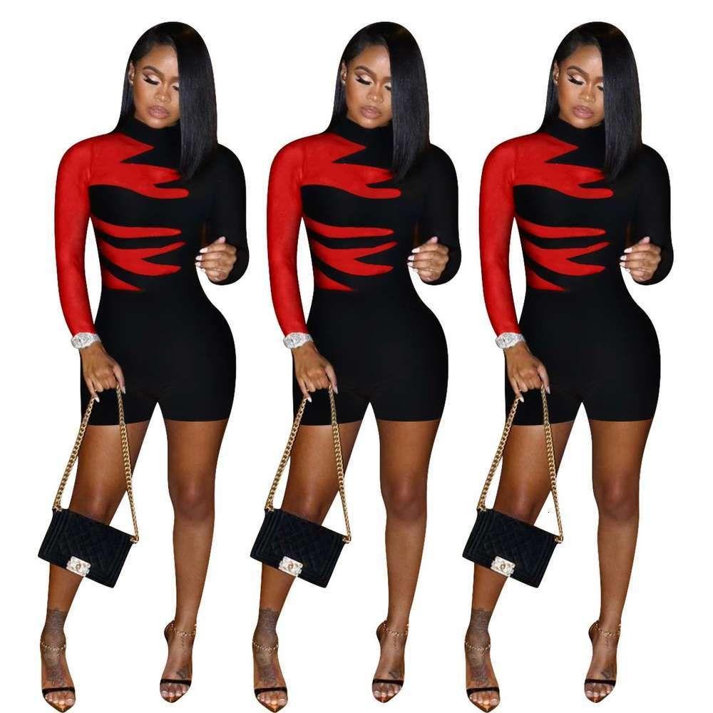 Fe089 Femme Mode Lumière Mûre Mûring Courte Combinaison pour femmes