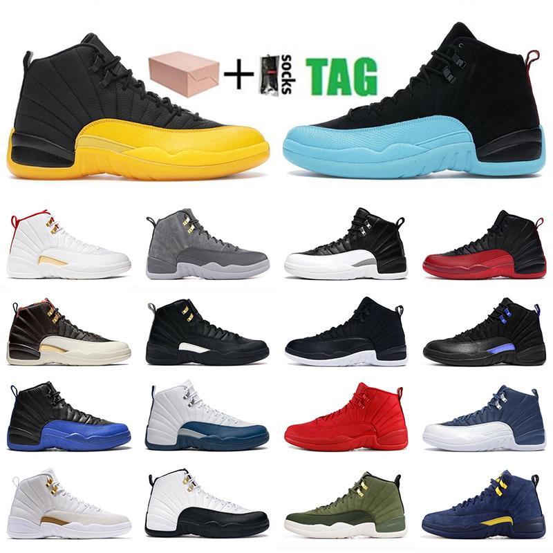 Nike air jordan 12 12s retro shoes University gold 12 12s mens basketball shoes high sneakers indigo CNY black royal blue cherry white dark grey sunrise men sports trainers