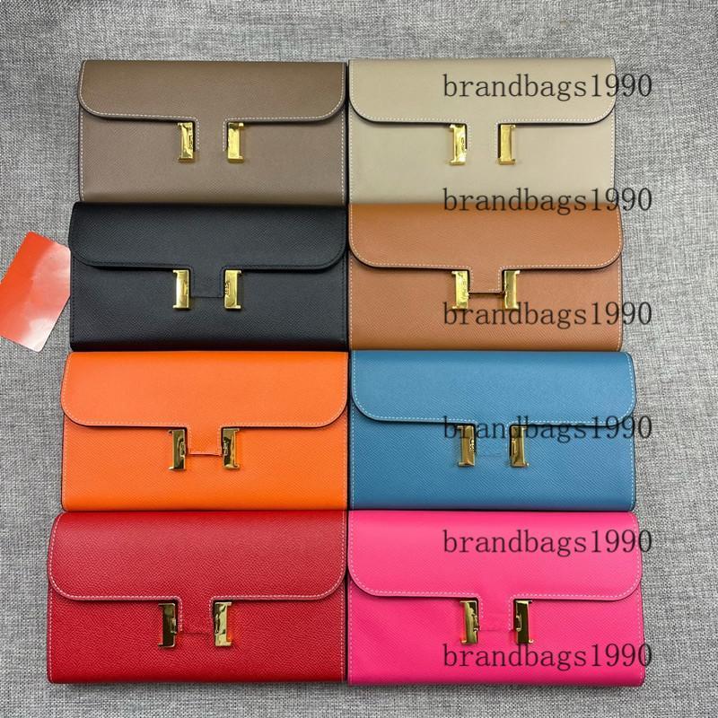 Espom Lange Brieftaschen Ganze Leder Kartenhalter mit Gold Hardware Geldbörse Taschen Mode Cowskin Echtes Leder Brieftasche Für Dame Frau 539