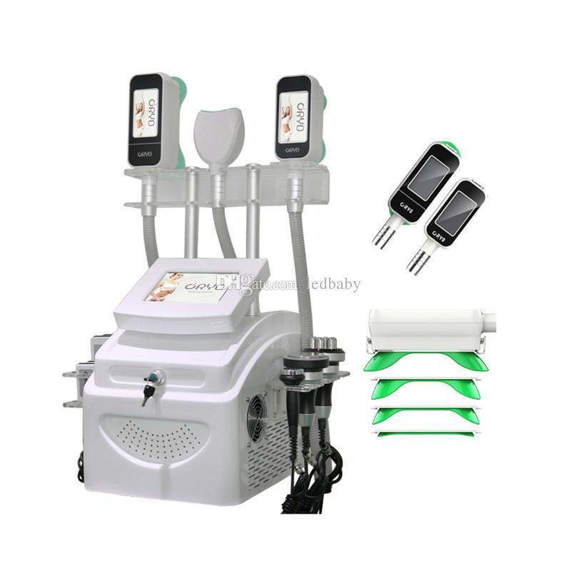Yeni 360 Cryolipolysis Vücut Zayıflama Yağ Dondurucu Makinesi Serin Şekillendirme Vakum Liposuction Ultrasonik Kavitasyon RF Lipo Lazer Güzellik Ekipmanları