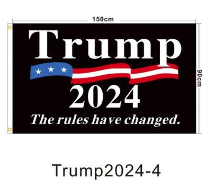Fast DHL Ship 90 * 150 cm Trump Keep Bandiera Trump 2024 America appesa Great Banner 3x5ft Stampa digitale Donald Trump Flag 20 Colori