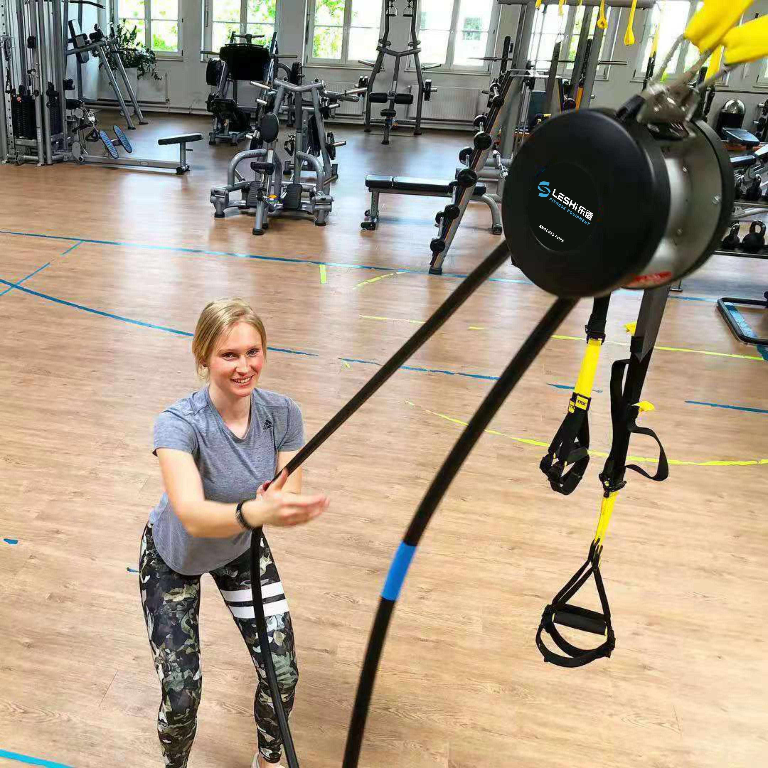 جودة عالية شنقا حبل المدرب جدار بكرة لا نهاية لها حبل معدات اللياقة البدنية الأساسية التدريب رياضة ممارسة المنزل خارج الباب تجريب C0224