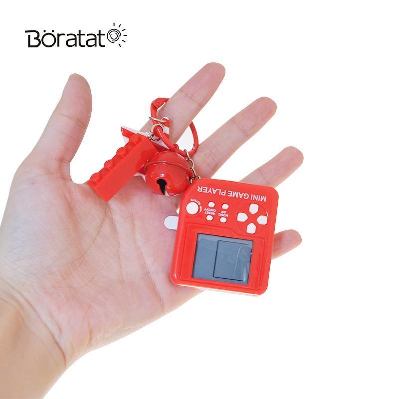 Joueurs portables Joueurs Mini Console Handheld Classic Nostalgic Jouets avec porte-clés Sac à dos Tetris Ornements Cadeaux pour enfants